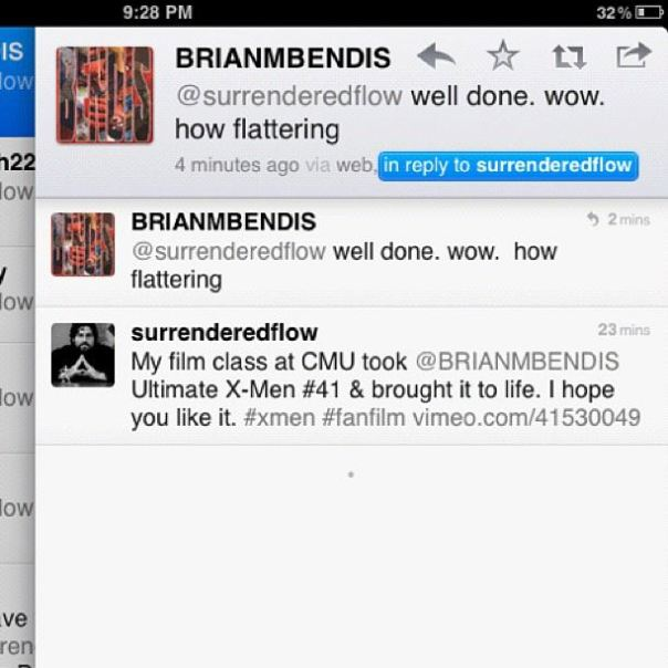 Brian Michael Bendis twitter