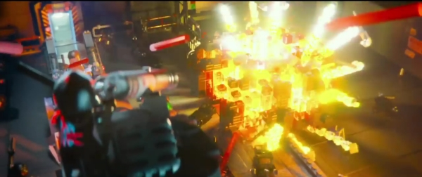 It's hard to tell, but even the fireballs are Legos that are backlit.