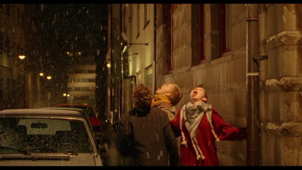 The film often shows how these girls are still children, like when they catch snow on their tongues.