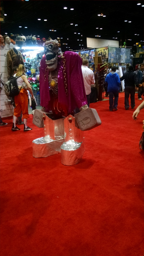 Great looking Frankenberry cosplay. Huge with working lights.