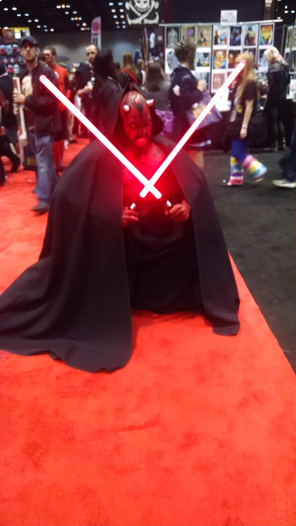 Darth Maul, played the part quite well too, very silent and menacing.
