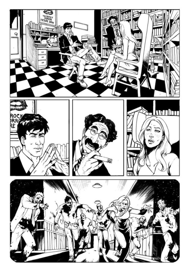 From the original comic with his slightly insane partner Groucho.
