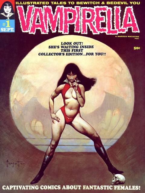 Her first issue cover drawn by Conan legend Frank Frazetta